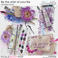 Be the artist of your life (embellishments) by Simplette