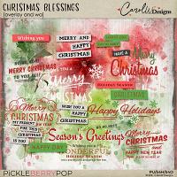 Christmas Blessings overlay and wa
