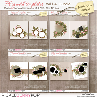 Play With Templates Vol.1-4 Bundle (Jasmin-Olya Designs)
