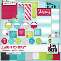 Claus & Company Stickers & Solid Papers