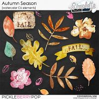 Autumn Season (watercolor CU elements) by Simplette
