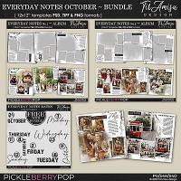 Everyday Notes Templates ~ October Bundle by TirAmisu design