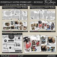 Everyday Notes February Bundle ~ Templates