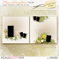 Play With Templates Vol.26 (Jasmin-Olya Designs)