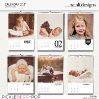 2021 Calendar White