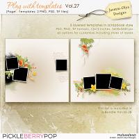 Play With Templates Vol.27 (Jasmin-Olya Designs)