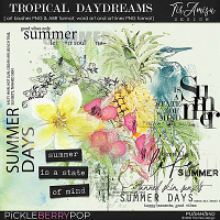 Tropical Daydreams ~ brushes and word art