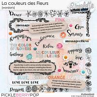 La couleur des Fleurs (wordarts) by Simplette