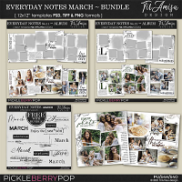 Everyday Notes March Bundle ~ Templates