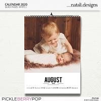2020 Calendar White 2