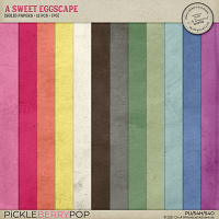 A Sweet Eggscape Solid Papers