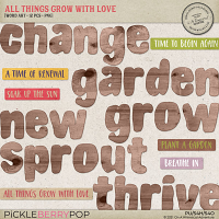 All Things Grow With Love Word Art