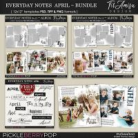 Everyday Notes April Bundle ~ Templates