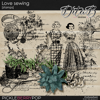 Love sewing - stamps