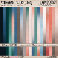 Summer Adventures {Plain & Ombre Papers}