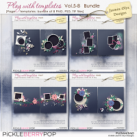 Play With Templates Vol.5-8 Bundle (Jasmin-Olya Designs)