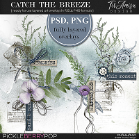 Catch The Breeze ~ Fully Layered Art Overlays