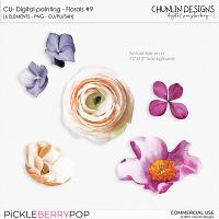 CU - Digital painting - Florals #9