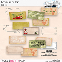 Love in a Jar (labels) by Simplette