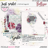 JUST SMILE   POP•iN Page Kit by Bellisae