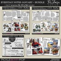 Everyday Notes January Bundle ~ Templates