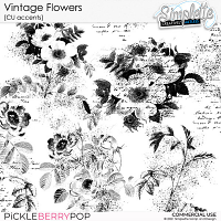 Vintage Flowers (CU accents) by Simplette