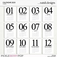 2020 Calendar Cards