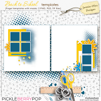 Back to School - Templates (Jasmin-Olya Designs)