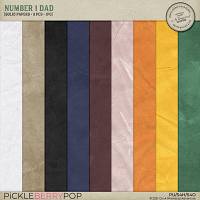 Number 1 Dad Solid Papers