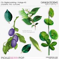 CU - Digital painting - Foliage #5