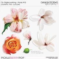 CU - Digital painting - Florals #10