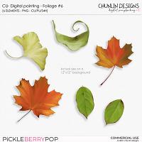 CU - Digital painting - Foliage #6