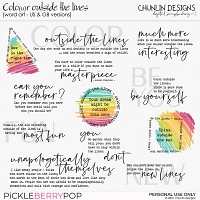 Color outside the lines - word art