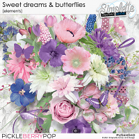 Sweet Dreams and Butterflies (elements) by Simplette