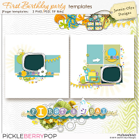 First Birthday Party - Templates (Jasmin-Olya Designs)