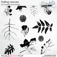Falling Leaves (CU stamps and brushes) by Simplette