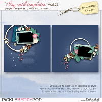 Play With Templates Vol.23 (Jasmin-Olya Designs)