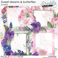 Sweet Dreams and Butterflies (clusters) by Simplette