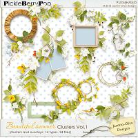 Beautiful summer - Clusters Vol.1 (Jasmin-Olya Designs)
