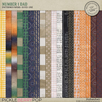 Number 1 Dad Patterned Papers