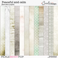 Peaceful and calm-Blended paper
