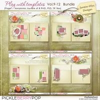 Play With Templates Vol.9-12 Bundle (Jasmin-Olya Designs)