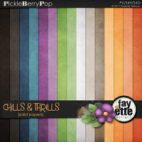 Chills & Thrills Solid Papers by Fayette Designs