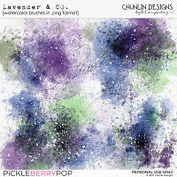 Lavender & co - watercolor brushes in .png format