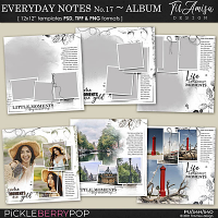 Everyday Notes June No.17 ~ Templates