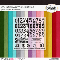 Countdown to Christmas Solid Papers & Numbers by Fayette Designs