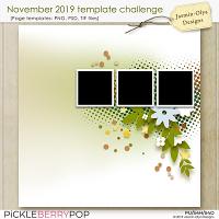 November 2019 Templates challenge (Jasmin-Olya Designs)