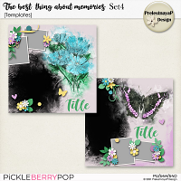 The best thing about memories Templates Set4