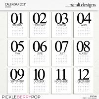 2021 Calendar Cards