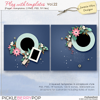 Play With Templates Vol.22 (Jasmin-Olya Designs)
